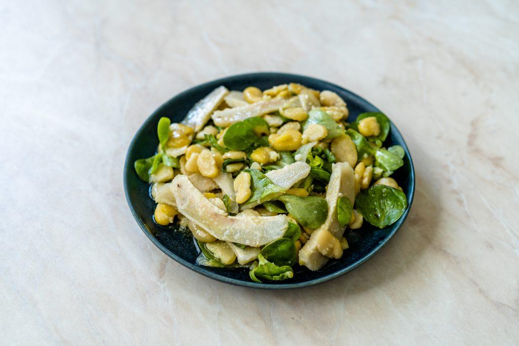 İç Baklalı Enginarlı Semizotu Salatası